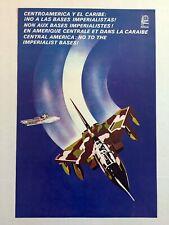 1991 Political POSTER.Original OSPAAAL Solidarity propaganda.War plane.America