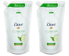 (2 Pack) Dove Caring Hand Wash 2x Refill Pack 16.9fl oz Cucumber and Green Tea