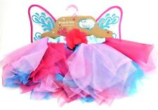 Whimsy and Wonder Girls Elastic Fairy Tutu & Wing Costume Size 4-6X New