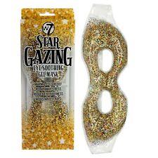 W7 STAR GAZING EYE SOOTHING GEL MASK - GOLD GLITTER REDUCE EYE PUFFINESS