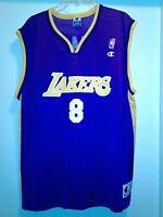 Men Vintage Champion NBA Los Angeles Lakers #8 Kobe Bryant Jersey Size 48 Purple