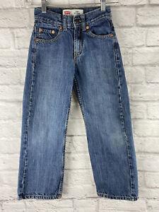 Levis 550 Red Tag Kids Boys Girls Jeans Relaxed Denim Tagged W22 L22 Sz 8 Slim