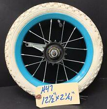 """12"""" Rear Bicycle Blue Wheel w/ Coaster Brake Tire & 12 1/2 X  2 1/4 Bike #H47"""