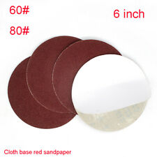 6 Inch 150mm Round Dry Sandpaper Glue Backing Pad Disk Sand Sheets Grit 60 80
