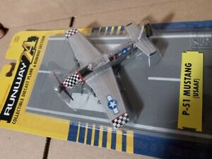 HO Scale P-51 Mustang Air Plane With Runway #RW-195