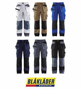 BLAKLADER 1503 POLYCOTTON WORK TROUSERS MULTIPOCKETS CORDURA KNEEPAD POCKETS