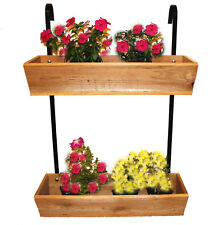 Cedar Wood Hanging Fence or Rail Planter. Free Shipping