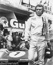 Le Mans 1971 Steve McQueen Canvas Wall Art Movie Poster Print Motor Sport F1 Car