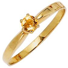 Echte Edelstein-Ringe aus Gelbgold mit Citrin für Damen