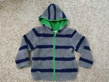 Boys Mini Boden 6 7 jacket hooded zip up gray blue jacket boys Mini Boden 6 7