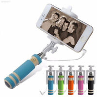 99DB 99BC Mini Extendable Wired Selfie Stick Remote Shutter Phone For Cell Phone