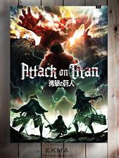 Attack on Titan Season 2 Anime Manga Poster Art Print A3 A4 5x7 Satin Matt Gloss