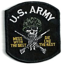 ARMY - MESS WITH THE BEST DIE LIKE REST - IRON ON PATCH