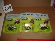 1/64 Mini Toys Lot - 3-pieces with black running gears, all in original packages