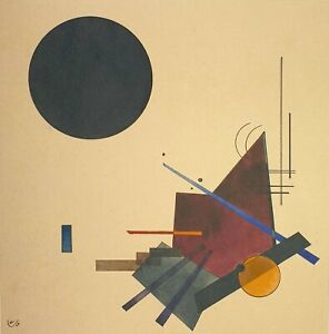 Wassily Kandinsky, Black Relationship, Hand Signed Lithograph