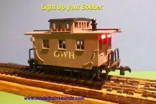 "HO Bobber Caboose Lighting Kit with Track Pickup Wheel Set 33""  plus 4 LEDs"