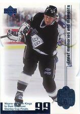 Wayne Gretzky 1999-00 UD Living Legend Blue Parallel #89 0362/1999 Kings