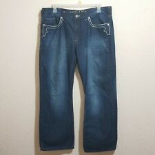 HELIX Men's Relaxed Fit Jeans Size 38/30 Boot Cut Distressed