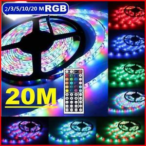 2/3/5/10/15/20M RGB LED Light String 3528 SMD 600 Strip&44 Key Remote Controller