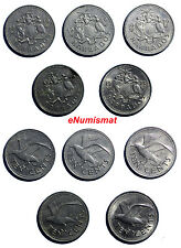 BARBADOS Copper-Nickel LOT OF 5 COINS 1973-1980 10 CENTS KM# 12