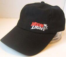 Moose Light Hat Black Moosehead Beer Cool Max Hook Loop Baseball Cap