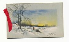 34 - BEAUTIFUL VINTAGE DATED 1926 CHRISTMAS CARD.
