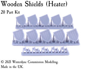 Wooden Shields (Heater) Suits Warhammer Age of Sigmar, Kings of War, 28mm, 32mm