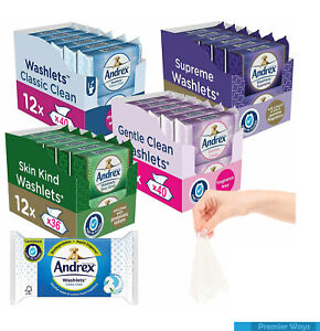 ANDREX WASHLETS CLASSIC CLEAN TOILET TISSUE PAPER WIPES FLUSHABLE WIPES PACK
