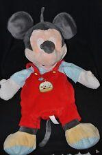 Peluche doudou range pyjama DISNEY rouge bleu carreaux arrosoir 54 cm TTBE