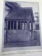 Middlesex 1924: Porch Hartington Church Chertsey Bridge Arnold of Rugby Print