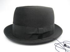 Vintage BORSALINO 50s Mens Fedora Bowler Hat 7 3/8 Box Black Felt Breaking Bad