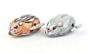 Ohta (Japan) Tinplate Clockwork/Wind-Up Chipmunk & Mouse
