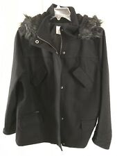 Avenue Wool / Polyester Coat Ladies. Black  New w/o Tags  14/16