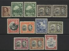 Grenada Collection 11 KGVI Values Mounted Mint + 10/- Used