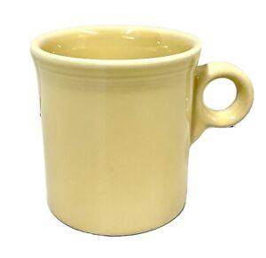 Fiesta Ware Coffee Mug Beige Butter Cream Tom Jerry O Ring Handle  VINTAGE MCM