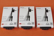 3 Stück EVOline Plug extraflacher Schukostecker schwarz ohne Kabel  Flachstecker
