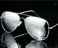 Vintagee Sunglasses Womens Men Eyewear Metal Frame Oversized Fashion Mirror Lens