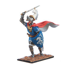 Tin Toy Soldier Medieval Fighting Knight metal sculpture 54mm painted #11.08
