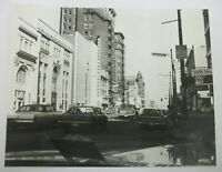 Vintage Louisville Kentucky Downtown Busy Street Scene Large B&W Photograph
