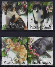 2002 PITCAIRN ISLAND CATS SET OF 4 FINE MINT MNH/MUH