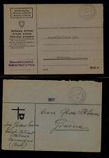 Switzerland  2 feldpost covers   no  stamps         KL0219
