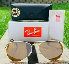 NEW Ray-Ban Aviator Brown Classic G-15 Men's Sunglasses RB3025 001/33 58-14