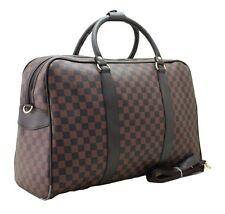 Large Designer Inspired Holdall Weekend Luggage Duffel Cabin Travel Case Bag BR
