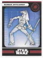 2008 Star Wars Miniatures Gungan Artillerist Stat Card Only Near Mint