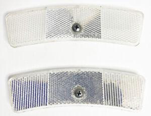 Vintage Schwinn 5621C-3A-4R White wheel reflectors (2) 1 pair - Used
