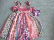 BLUEBERI BOULEVARD~Multi Colored SLEEVELESS SUNDRESS DRESS~Girls 12 months~NWT