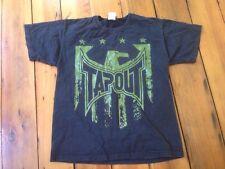 """Tapout MMA UFC Official Eagle Stars Logo Black 100% Cotton T-Shirt 39"""" Chest"""