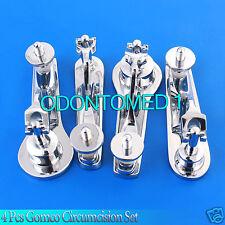 4 PCS Gomco Circumcision Clamp 1.1+2.1+2.6+2.9cm Surgical Instruments