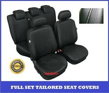 Black Eco Leather Tailored Full Set Seat Covers For Peugeot 207 2003 -onwards