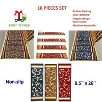 16 pcs - Non-Slip Quality Carpet Stair Treads FREE SHIPPING